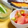 7月15日夕食、夏野菜切るだけ調理の副菜&天ぷら3種類