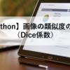 【Python】画像の類似度の計算(Dice係数)