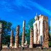 スコータイ歴史公園『ワット・サパーン・ヒン』(Wat Spahan Hin)から見る景色は美しいです♩