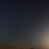 夜の桜島と星空です。