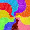 タイル張り「等辺凹5角形(旋回放射状)」