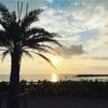 沖縄の海と夕陽