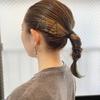 簡単ヘアアレンジ✦三つ編みポニーテール