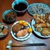 幸運な病のレシピ( 2551 )昼 :#ゲソ天 #タコフライ #かき揚げ #ナス天 #蕎麦