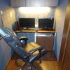 書斎のお引越し☆55型の大きなテレビは書斎で使えるのか否か☆