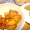 唐揚げ、鮪ソテー、魚フライ、玉子焼き