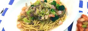 野菜たっぷり、さらに低糖質!エビと野菜のピリ辛スープパスタ