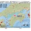 2016年08月13日 15時22分 瀬戸内海中部でM3.0の地震