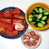夏にピッタリ・・・キュウリとトマトの炒め煮