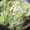 白菜豚蒸し、味噌汁、ひじき