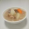 大根と豚骨の白湯スープ