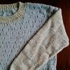 編み図あり。棒針の模様編みセーター。できるだけ簡単に作りました。