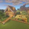 【マインクラフト#6】オークの木材と丸石で簡単に作れる!初期拠点の紹介