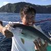 沖釣りアカハタメインからのカンパチ