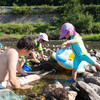 川遊びと花火大会