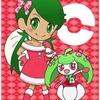 ポケモンクリスマス絵・マオとアママイコ。