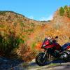 紅葉を求めて標高1520mの落合峠ツーリング