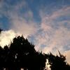 雲が流れて