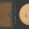 Blender 282日目。「眼球のモデリング」その2~UV展開~。