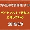 【ぼちぼち原資が入ってきた】2019/3/9 仮想通貨時価総額14兆9000億