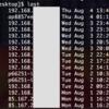 bash lastコマンドで得たログイン情報を一意化して並べ替え、いつどこからリモート接続したか一覧化する