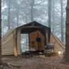 韓国サイトで見つけちゃいました✌️  ロッジ型ヴィンテージ風テントおすすめです!