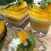 オレンジゼリーとチーズヨーグルトムースの融合♡