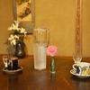 某所の「秘密の喫茶」でバジルケーキ、バナナケーキ、イルガチェフェ。