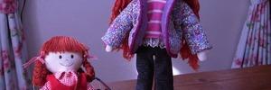 【年金暮らしの手芸生活】ホビーラホビーレ・着せかえ人形ニーナのお洋服が完成