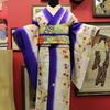 白地暈し刺繍桜菊柄小紋×クリーム色地桜柄金駒刺繍袋帯