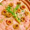 出汁不要!紅ずわい蟹と水菜とオリーブのクリーム雑炊