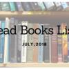 【読書_201807】Read Books List