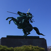 【写真複製・写真修復の専門店】最上義光騎馬像 山形城跡
