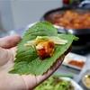《釜山》カウンター席で食べるヤンコプチャン@대광곱창