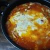 自作でトマトチーズ鍋