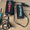 実験!ジャンプスターターバッテリーにAC100V変換器をつないで半田ごてを使ってみた