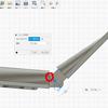 Fusion 360でクインジェットのモデリング:可動部分のモデリング