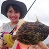鹿児島の海は 9月も楽しいぞう! 釣りガール頑張るぞう!カワハギっ!