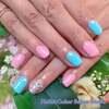 夏らしさの中に可愛らしさも♡ティファニーブルー&ピンクのサマーパステルネイル☆ジェル