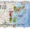 2017年10月03日 02時53分 茨城県沖でM3.8の地震