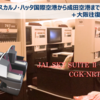 ジャカルタからの帰国便の日本航空JL720便で成田までと大阪往復