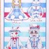 ポストカードのアリスをマリンスタイル風に塗ってみた。(アリスの不思議かわいい物語)
