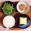 玉子豆腐、水菜サラダ、小粒納豆。