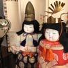 雛菊リースと雛人形を飾る