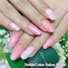 フェミニンで春らしい♡マーブル模様がかわいい春色ピンクネイル☆ジェル