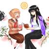 「漫画『ひまわりさん』のひまわりさん誕生日のお祝いをしました^^」