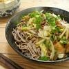 簡単!!豚肉と搾菜(ザーサイ)のピリ辛和え蕎麦の作り方/レシピ