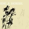 今回は人が出てきました。   馬に乗るイラスト