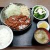 西川口の「あおき食堂」さんでハンバーグデミグラスソースかけ定食を食べました★