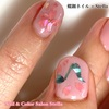 今回は新作モチーフで♡春に踊る音符を飾って♪桜も素敵な螺鈿&ワンカラーネイル☆ジェル